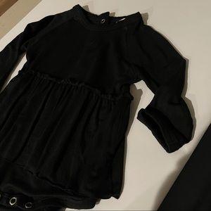 SpearmintLOVE Long Sleeve Bodysuit, Black